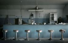 Old Diner In Ghost Town, Robsart, Saskatchewan, Canada
