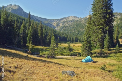 Eaglecap Wilderness, Oregon, United States Of America; Backcountry Camping In Brownie Basin