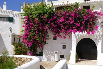 Village blanc de Binibequer Vell sur l'île de Minorque