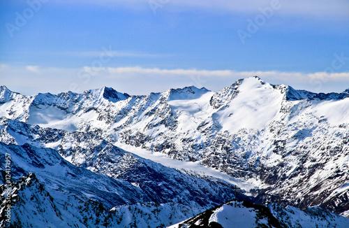 Fotografie, Obraz  Austria,Alps,ski resort of Neustift , glacier Stubai