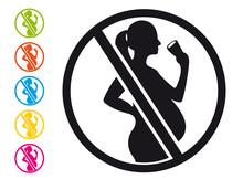 Alcool Interdit Aux Femmes Enceintes - Pictogramme