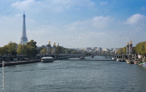 Deurstickers Eiffeltoren Seine River in Paris