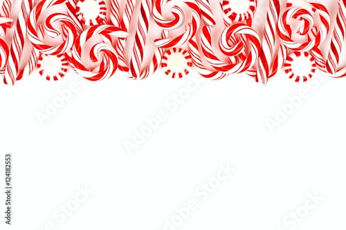 Christmas Top Border.Christmas Candy Top Border With Peppermints And Candy Canes
