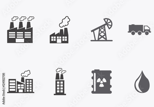 54 Grayscale Energy and Commodities Icons. Buy this stock template ...