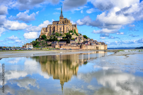 Fotografie, Obraz  Le Mont-Saint-Michel island, Normandy, France