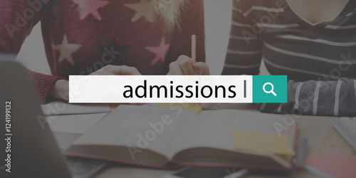 Photo  Admission College Education Entry Learning Text Concept