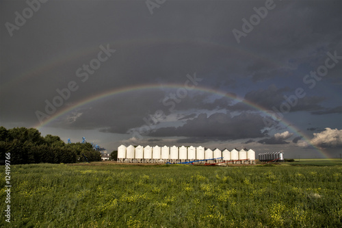 Wall Murals UFO Storm Clouds Saskatchewan Rainbow