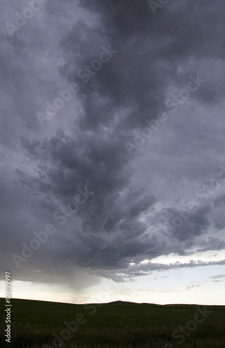 Spoed Fotobehang Onweer Storm Clouds Saskatchewan