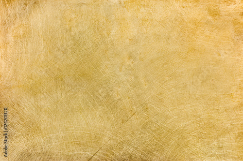 Vászonkép industrial brushed brass plate with multiple scratches textured background