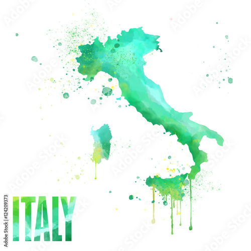 Italy map Tablou Canvas