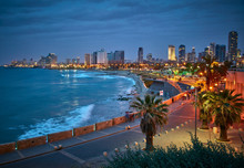 Waterfront Of Tel Aviv. Night ...