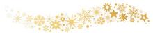 Weihnachtliche Dekoration Goldener Sternenschweif