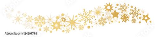 Fotografía Weihnachtliche Dekoration goldener Sternenschweif