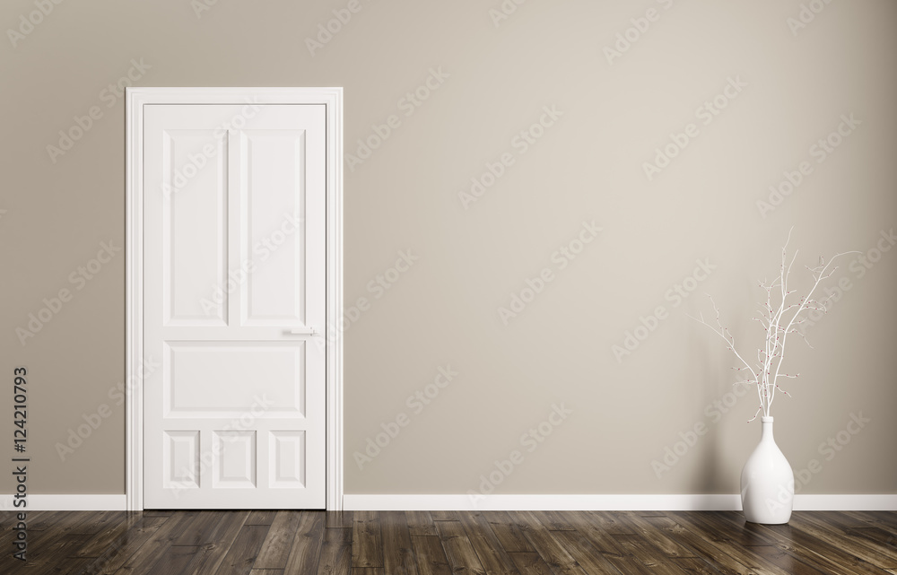 Fototapety, obrazy: Interior background with door 3d rendering