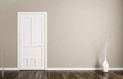 Fotografie, Obraz  Interior background with door 3d rendering