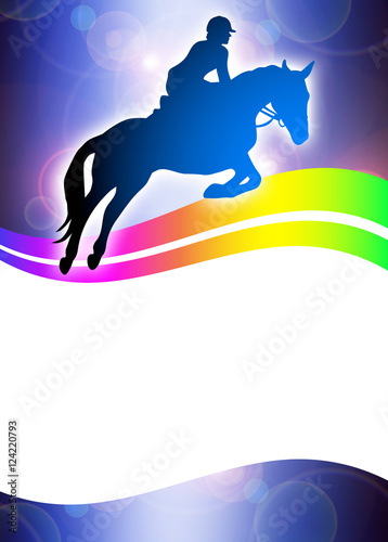 Foto op Plexiglas Paardrijden Reitsport - 65 - Poster