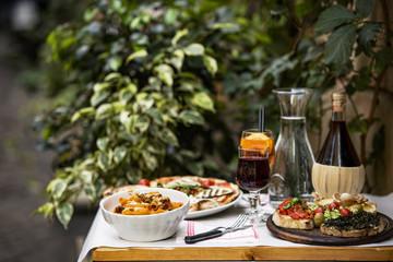 Panel SzklanyItalian food