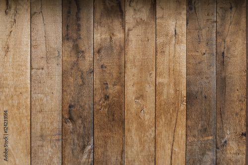 Fototapeta Light brown wooden plank texture wall background obraz