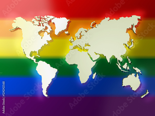 Foto op Plexiglas Wereldkaart Color World Map. Image with clipping path