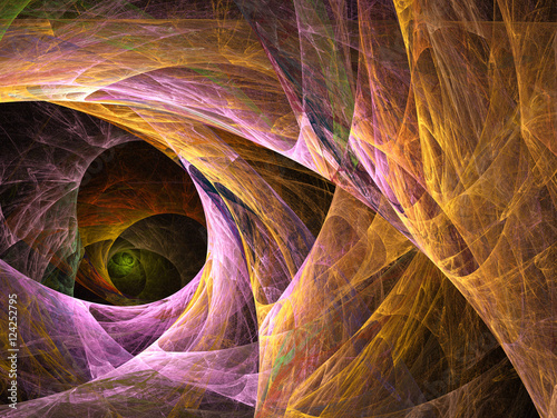 Computer fractal illustration of the passage into the cave