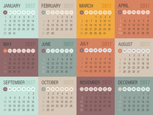 Calendar 2017 Year. Week Start...