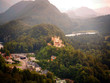 Dreamy Hohenschwangau Castle near Fussen, Germany, from the dist
