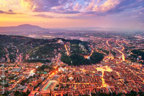 Vászonkép Brasov City in Romania