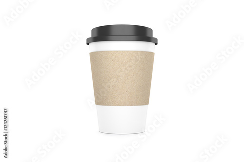Foto op Plexiglas Cafe Coffee cup isolated on white background. 3D illustration