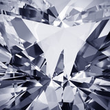 Fototapeta Kamienie - Realistic diamond with caustic close up texture, 3D illustration.
