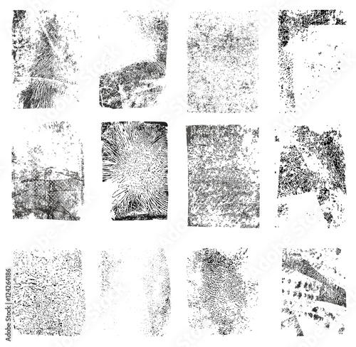 Set of Grunge  Texture Stamp. Grunge shapes Fototapete