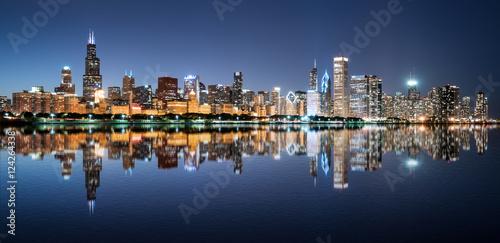 Plakat Chicago Night Skyline