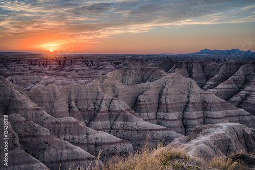 Photo Badlands South Dakota Sunset