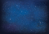 Fototapeta Na sufit - Vector night starry sky background.