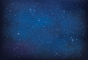 Fototapeta Vector night starry sky background.