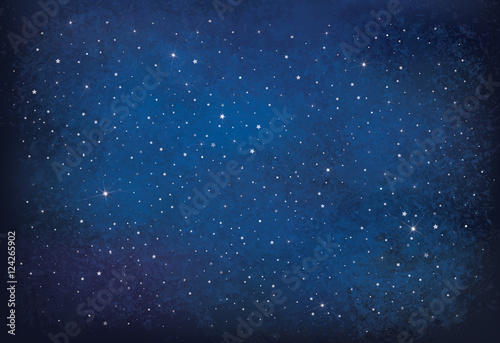 Fototapeta Vector night starry sky background. obraz