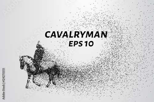 Cavalryman of the particles Wallpaper Mural