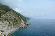 High cliff and sea in Vernazza, Italy
