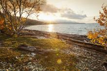 Sunrise Over Northern Shores Of Lake Superior, Thunder Bay, Ontario, Canada