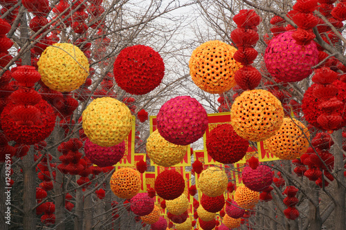 Photo  Chinese, Lunar, New Year Large Decorations Ditan Park, Beijing,