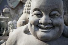 Smiling Stone Buddha Statue;Beijing China