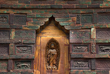 Ancient Buddha Brick Details Iron Buddhist Pagoda Kaifeng China