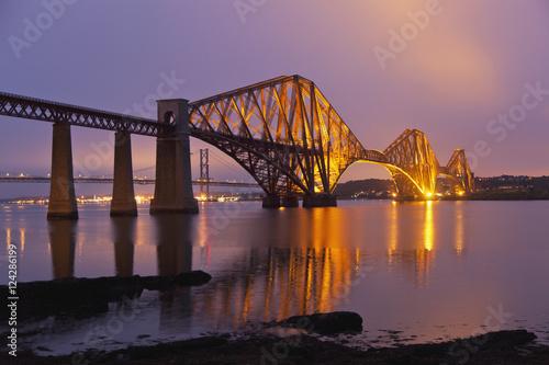 Keuken foto achterwand Bruggen Forth Road Bridge at Queensferry, North of Edinburgh; Scotland
