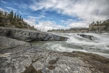 The Sluice Box Above Virginia Falls, Nahanni National Park Reserve, Northwest Territories, Canada
