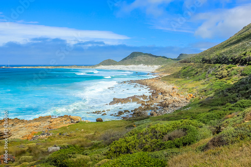 Valokuva  Scenic landscape of the Atlantic coast of Scarborough Beach near village of Misty Cliffs, Cape Peninsula in South Africa