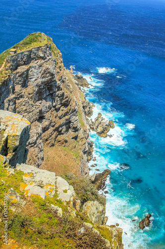 Valokuva  Cape Point is a promontory at the southeast corner of the Cape Peninsula and is part of Table Mountain National Park, within at section called Cape of Good Hope in South Africa