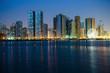 Night view of Sharjah UAE