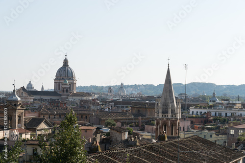 City skyline with old church, Rome, Italy.
