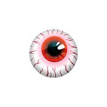 Halloween Eyeball Vector Symbol Isolated On White Background.