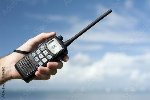 Handheld walkie talkie radio Fototapet