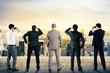 Leinwandbild Motiv Businessmen looking to the future